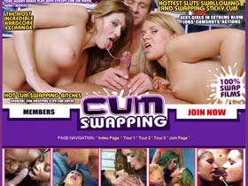 Welcome to Cum Swapping - hottest sluts swallowing and swapping sticky cum!
