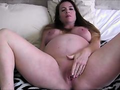 9 Month Pregnant Mommy/Son (solo with toy)