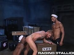 Sailor Submits to Latino and Ebony Navy Hunks