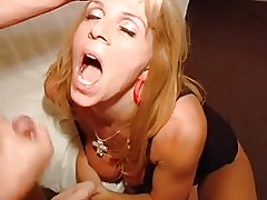 Slut wife fucks some guys from internet hubby taped gangbang