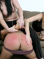 A bad boy is spanked until his ass is raw