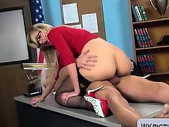 Teacher milf Gigi Allens gets fucked at school in stockings