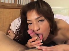 Kyoko sucks cock and is fucked