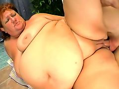 Short haired redhead plumper enjoys every stroke of dick in her peach