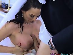 Busty Bride Simony Diamond Enjoys Best Mans Schlong